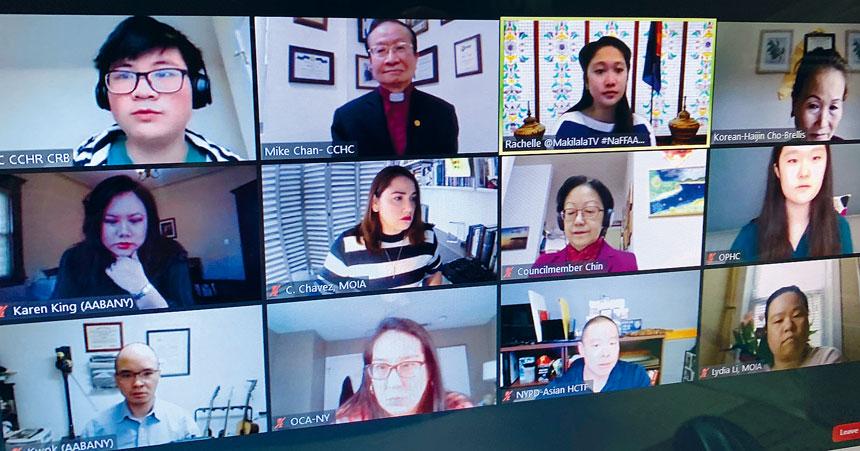 角聲舉辦網上社區論壇,「亞裔心聲-紐約市爭取人權的呼喊」的會議上,與會者 共同為遏止新冠肺炎造成的反亞裔仇恨犯罪把脈。