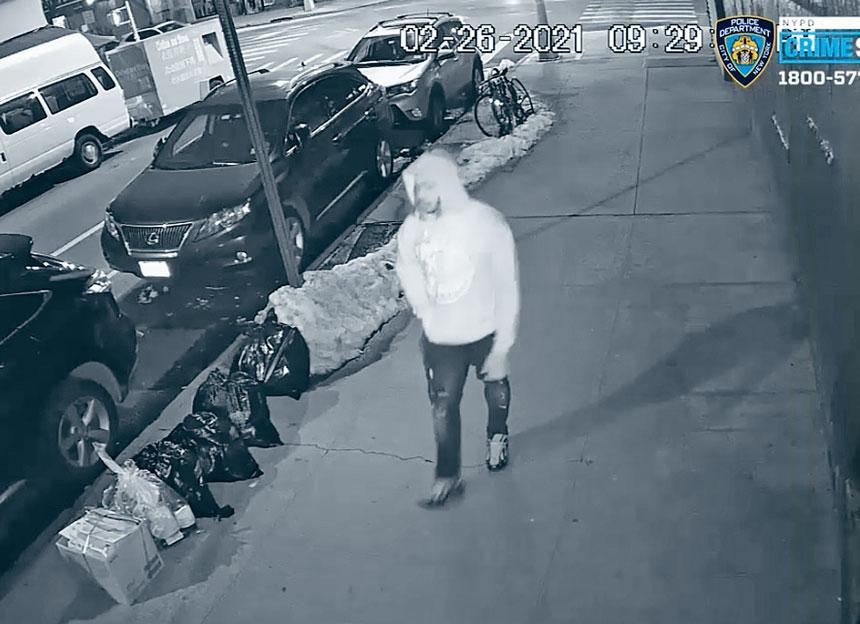 警方正在通緝圖示兇嫌。