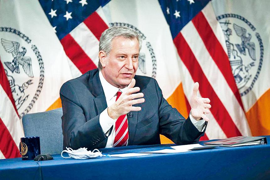 白思豪記者會表示今年前兩個月紐約市的犯罪指數大降。