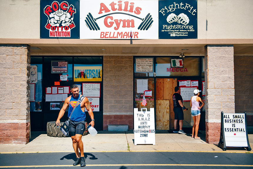 Atilis Gym健身中心去年曾多次違規經營。Kriston Jae Bethel/紐約時報