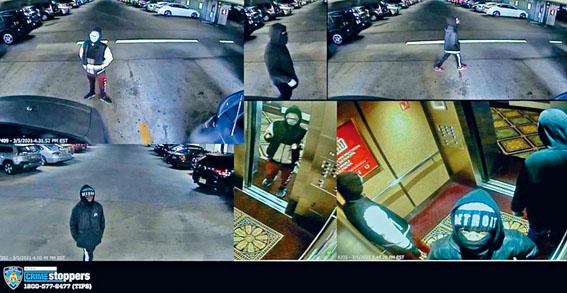 警方發布3宗搶劫案的疑犯照片。紐約市警務處圖片