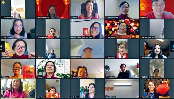 華人前進會2021年聯歡會場景。溫友平攝