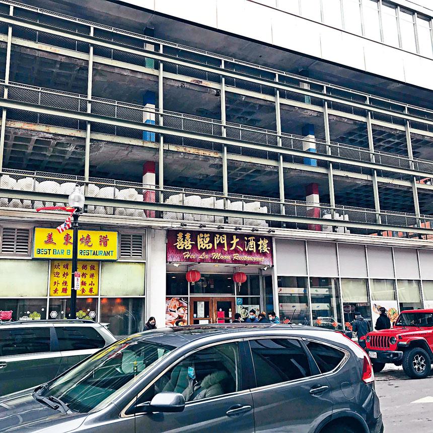 唐人街的中餐館在逐漸恢復人氣。溫友平攝