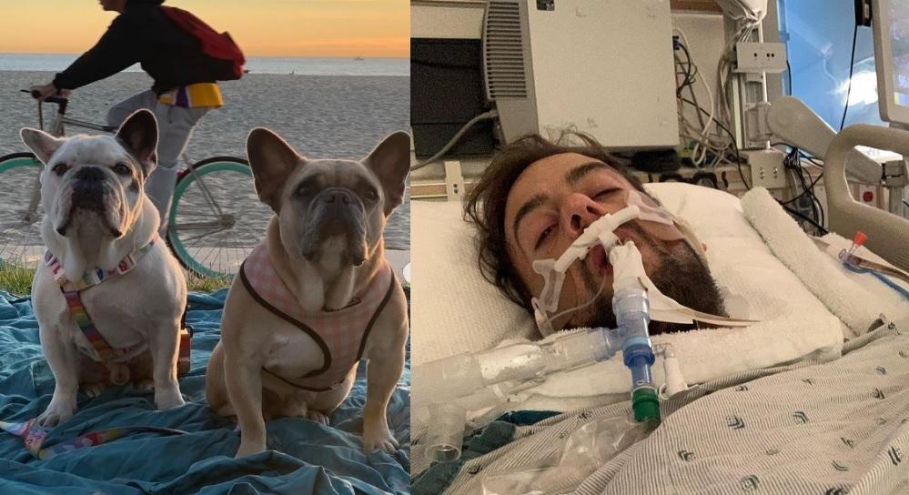 遭槍擊的Lady Gaga寵物保母費希爾(Ryan Fischer) 回憶被搶驚險過程,兩隻被搶鬥牛犬Koji和Gustav已在日前尋獲。Instagram照片