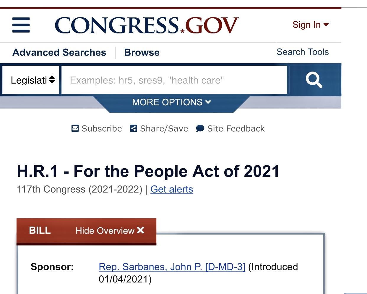 國會網站截屏。