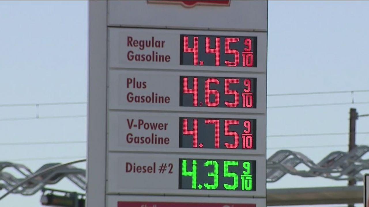 南加州油價快逼近五元大關。FOX 11