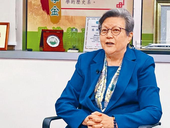 范徐麗泰指,香港政制發展的責任和權力是在全國人大及其常委會,不是香港「話事」。