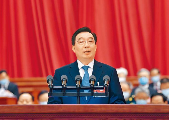 全國人大常委會副委員長王晨,作出關於全國人民代表大會完善香港特別行政區選舉制度的決定草案的說明。