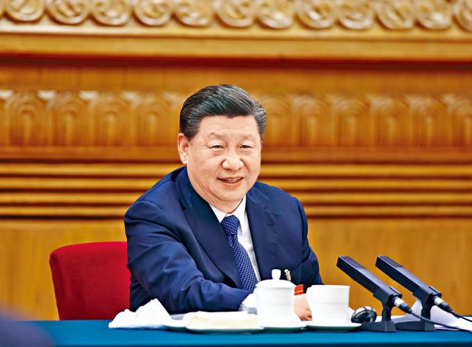 習近平五日參加內蒙古代表團審議。