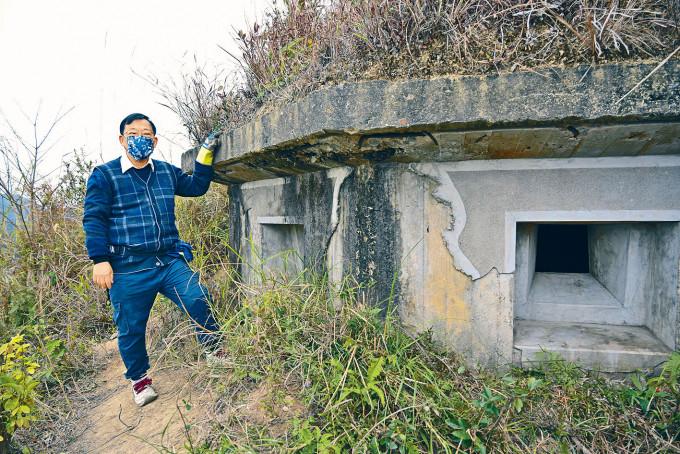 港大黎偉聰指,鹿頸槍堡為香港現存保留最完整的槍堡群。