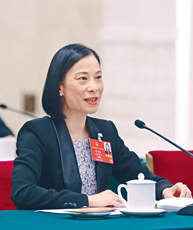 港區人大代表陳曼琪將於全國人民代表大會提交建議。