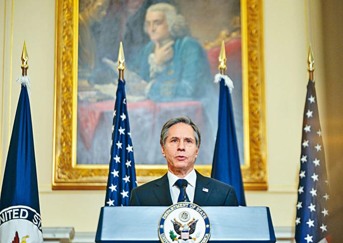 美卿布林肯周三發表外交政策演說。