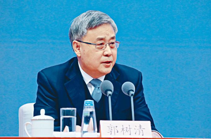 郭樹清指,中國金融管理必須按中國的規則,但強調中國願意與美國金融機構、企業等方面合作。