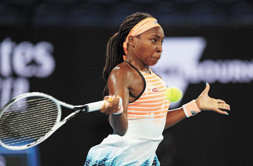 高芙成為15年來打進WTA500或更高級別半決賽時年齡最小的球員。資料圖片