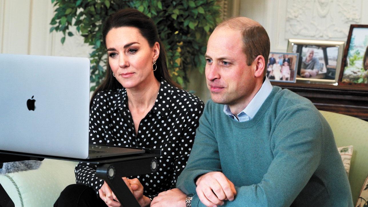 哈里與威廉夫婦(圖)近年關係不佳。美聯社