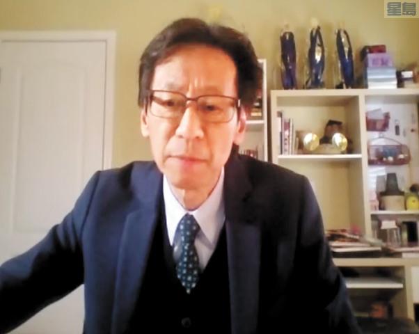 華埠商會會長陳錫澎感謝社區支持並會繼續找尋解決歧視問題的長期方案。記者張曼琳截屏