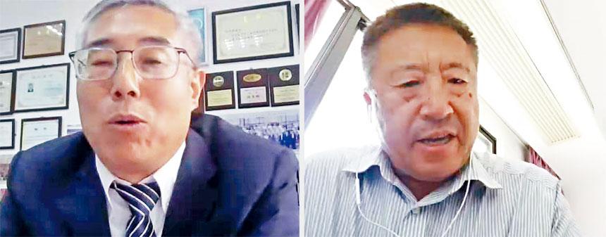 陳春麟博士(左圖)和邱東旭博士作了精彩的主講與對話。主辦方供圖