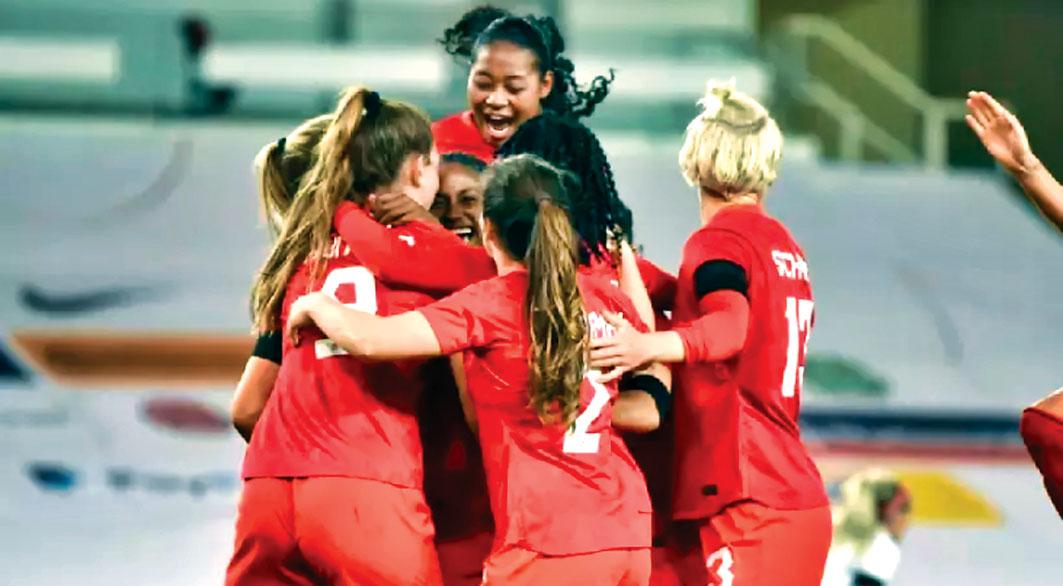歐洲友誼賽取兩勝,球迷對加女足寄予厚望。 美聯社