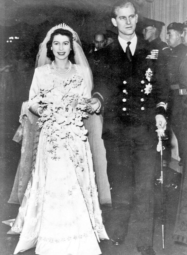 ■伊利沙伯1947年與希臘王子菲臘結婚。 資料圖片