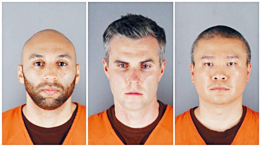 餘下3名被告庫恩(左)、利恩(中)、及陶投(右)去年案發後已被革職,目前面對協助、教唆二級謀殺及二級殺人的罪名。資料圖片