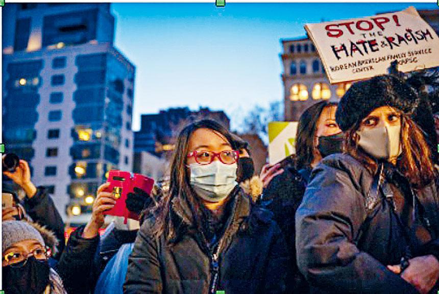 3月19日亞特蘭大槍擊案後,紐約人在聯合廣場舉行集會(Hiram Alejandro Durán/ THE CITY)