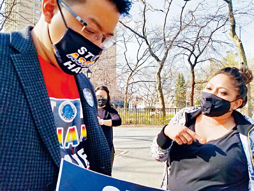 趙靖按最近號召和參加了反亞裔仇視示威。