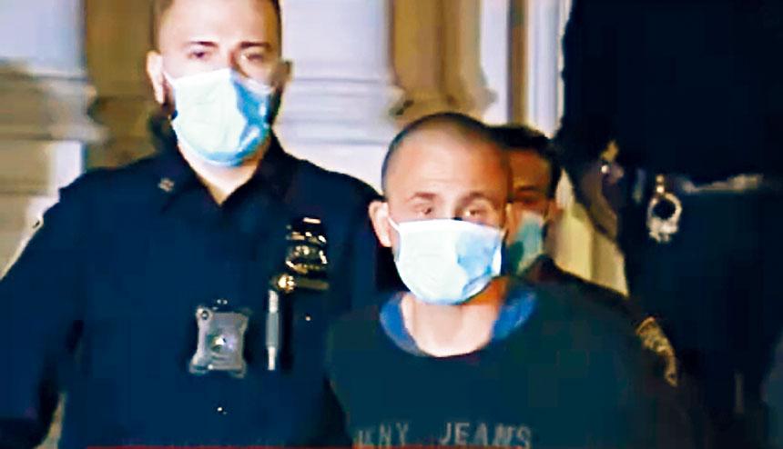 涉嫌三宗侵襲亞裔暴力案的匪徒(右),已於昨晚被捕。