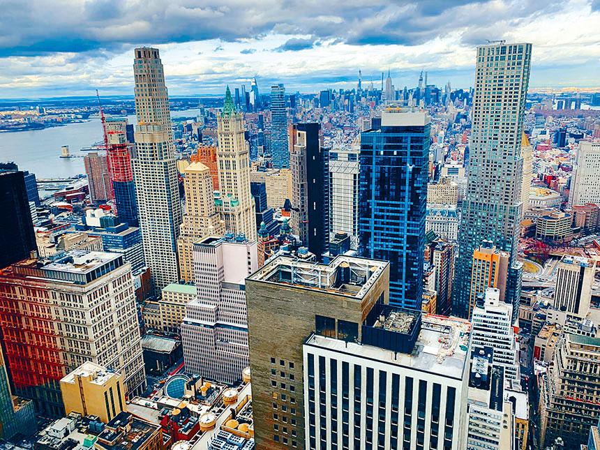 報告顯示疫情中紐約市人口多流失於曼哈頓。資料圖片