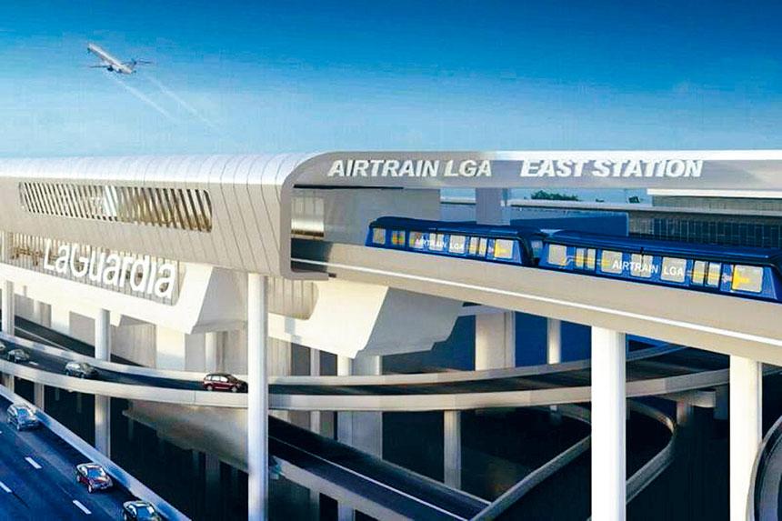 紐約州長柯謨提出耗資20億元的拉瓜地亞機場空中列車項目,環保團體和多位皇后議員形容是不切實際的大白象工程,要求叫停。