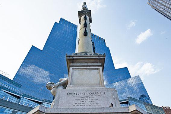 警方之前已把哥倫布塑像視為破壞者針對目標之一。Ruth Fremson/紐約時報