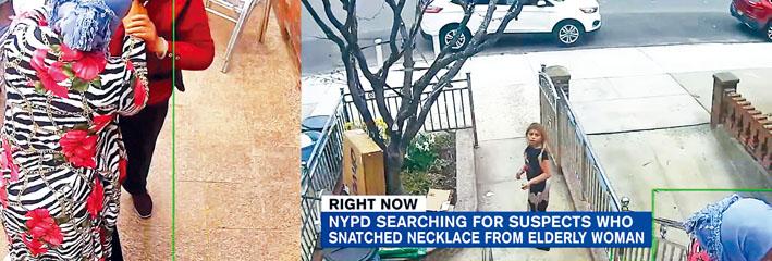 2名女子強搶華婦後逃走。 WABC新聞截圖