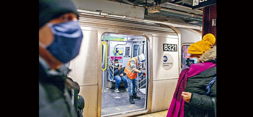 只有約兩成半乘客表示對地鐵安全感到滿意。美聯社