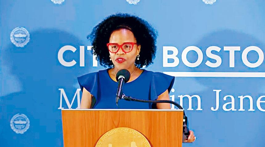 2021年4月27日,市長金•珍妮(Kim Janey)宣布波士頓市重新開放指南的更新。波士頓政府官網截圖