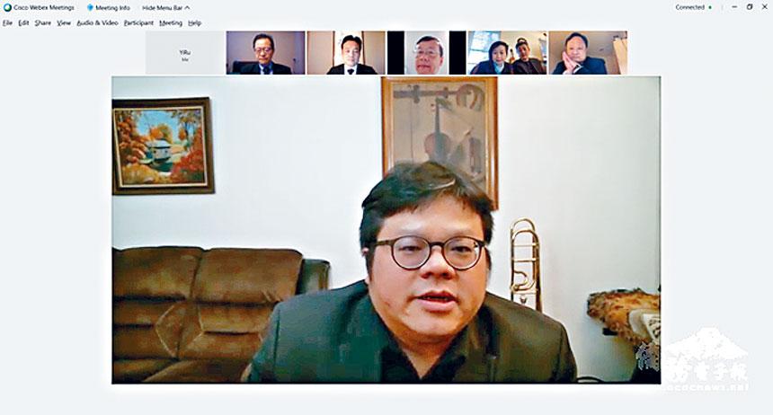 華府台灣同鄉會會長蔡懷恩為受難鄉親舉辦線上音樂會。