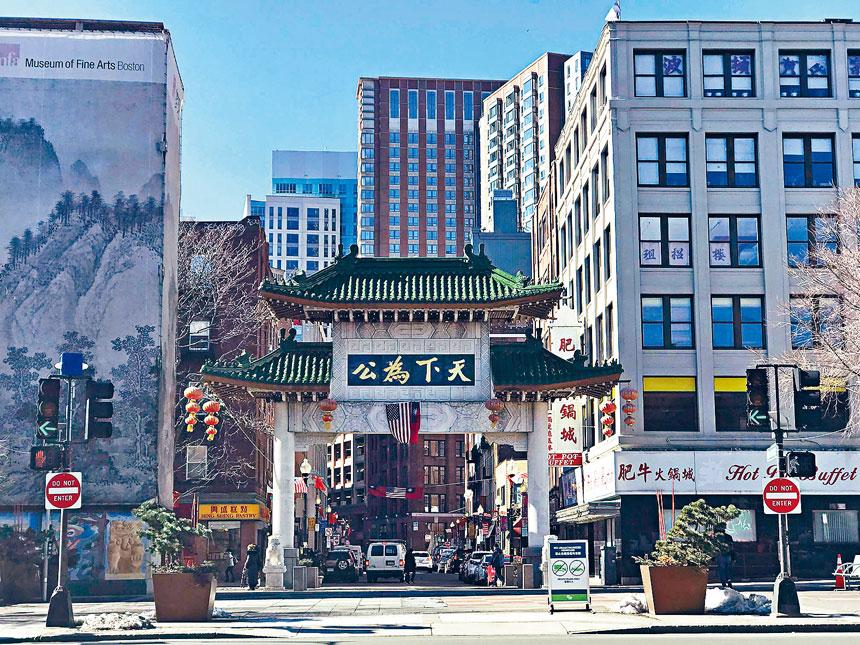 波士頓唐人街。溫友平攝