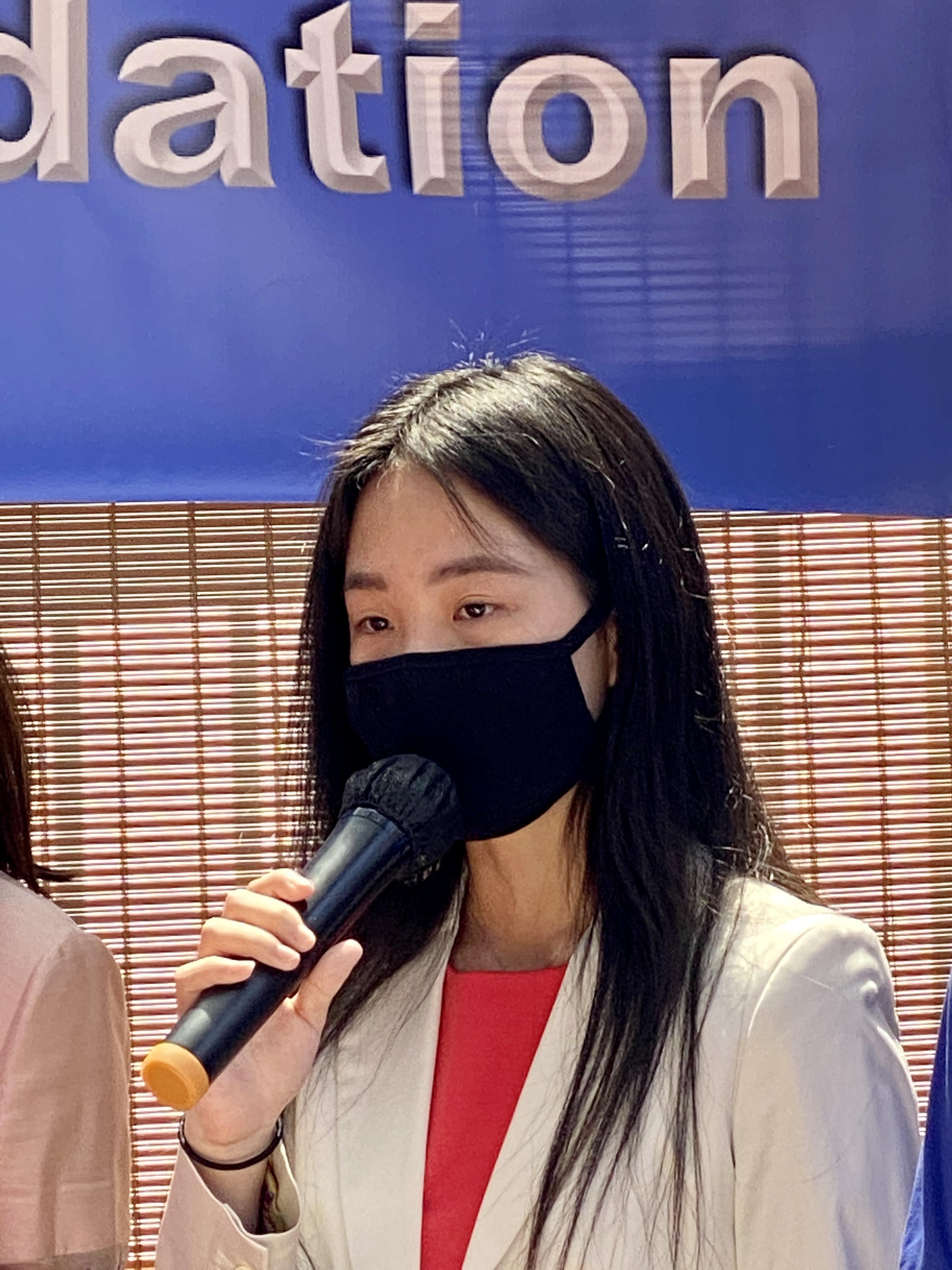 C&D世界人文基金會的創辦人Cheery 陳發表演講。記者周信攝