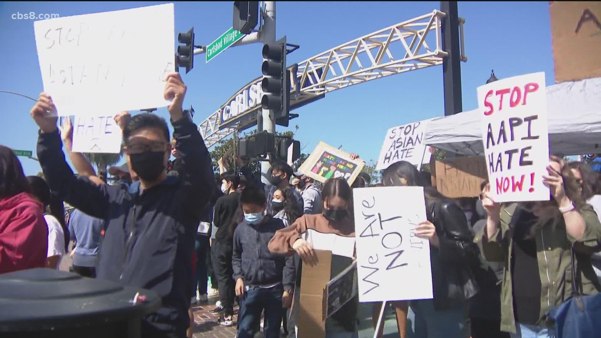 聖地牙哥市官員宣示嚴打反亞裔仇恨犯罪,呼籲亞裔勇於舉報。CBS8
