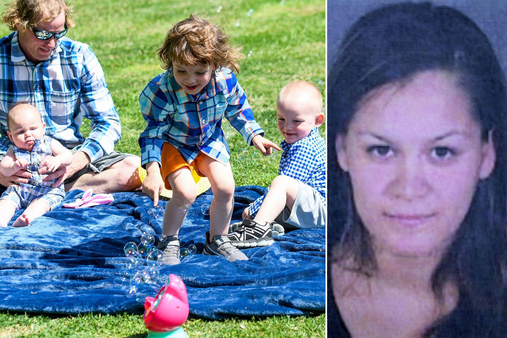 親手殺害三幼童(左)的母親Lilian Carrillo(右)另被控四項劫車重罪。GoFundMe/ LAPD