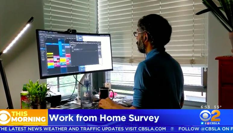 調查顯示多數州民希望大流行結束後仍可繼續在家工作,減少通勤時間。CBS
