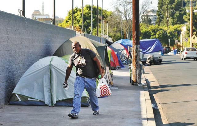荷里活整體遊民人口下降了約12%。洛杉磯時報