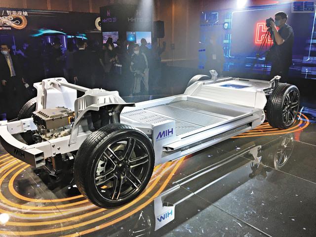 鴻海早前曾推出MIH電動車平台,強調軟件定義的開放生態,擬打進蘋果Apple Car生態系。資料圖片
