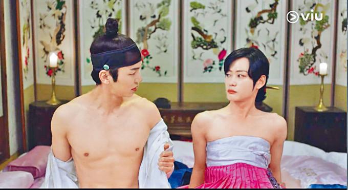 姜仁秀大方騷肌,與完美詮釋「嬌妻」的李洗賑鬥戲。