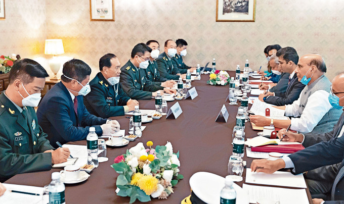 中印曾經舉行國防部長會晤。