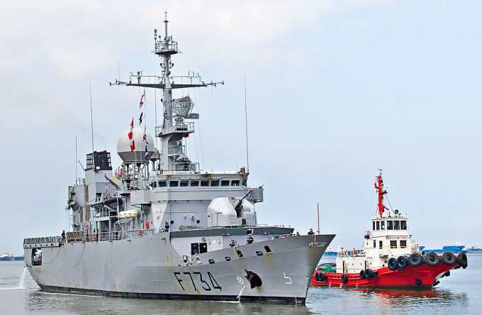 法國軍艦周日抵菲律賓訪問。