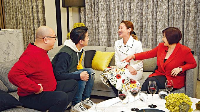 黎諾懿和陳敏之在節目上,大談異地戀回憶。