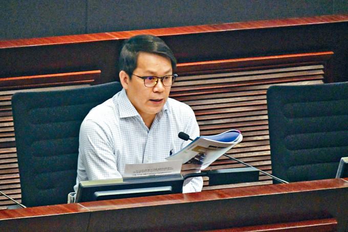 民建聯立法會議員陳克勤指,若繼續興建沙嶺墳場項目,影響整個大灣區發展。