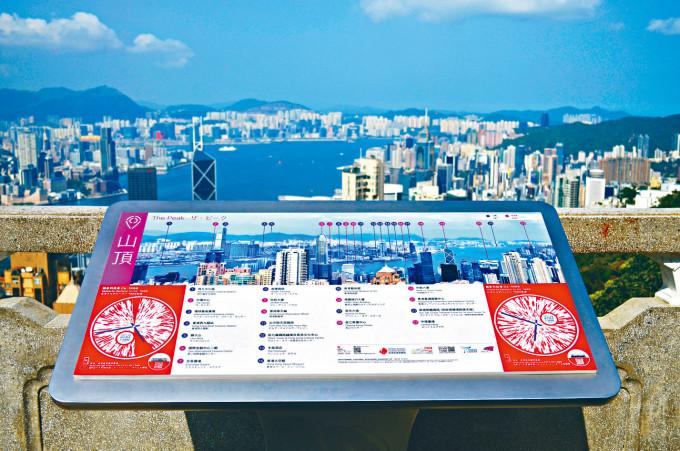 第二階段「城市景昔」旅遊項目推出,景點包括山頂獅子亭。