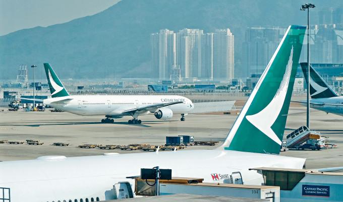 國泰近日由馬尼拉飛抵香港的兩班航班各現確診個案。