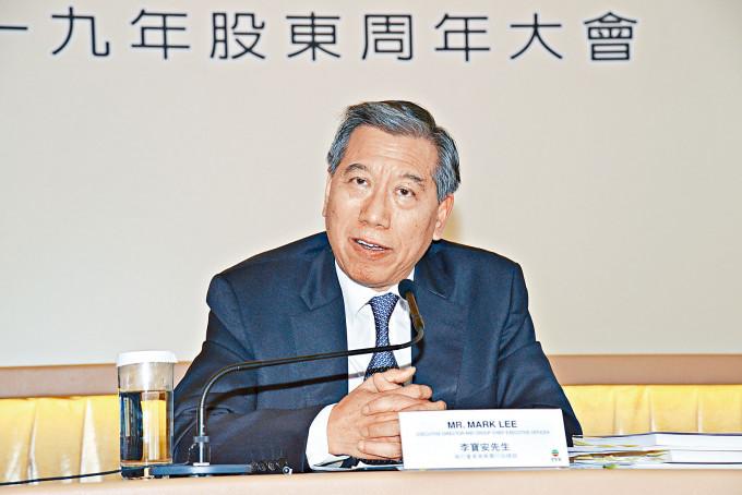 TVB盛傳重大人事變動,執行副主席及集團行政總裁李寶安計畫下月退休。