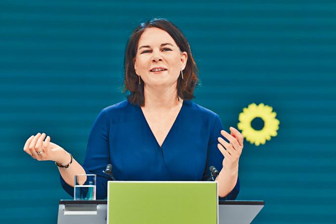德國綠黨黨主席貝爾伯克。